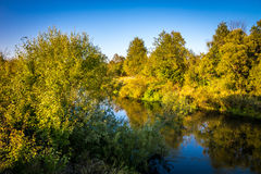 The suburbs of the Moscow city. River Kirzhach. Evening. Royalty Free Stock Image
