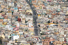 Suburbs of Quito from Panecillo hill, Ecuador Royalty Free Stock Photo