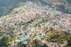 Suburbs of Quito from Panecillo hill, Ecuador Stock Photo