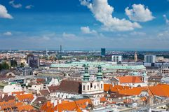 Suburbs in Vienna view from bell tower Stock Image