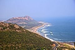 Suburbs of Vishakhapatnam Royalty Free Stock Images