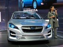 suburu 2011 impreza принципиальной схемы автомобиля Стоковое Изображение RF
