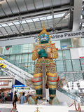 Subvarnabhumi International Airport, Bangkok, Thailand. Thai Mythical Creatures - Giant Yaksha  at Subvarnabhumi International Airport Bangkok Royalty Free Stock Photography