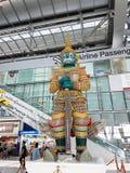 Subvarnabhumi internationell flygplats, Bangkok, Thailand Royaltyfri Fotografi