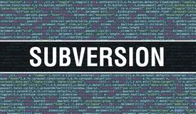 Subversion text written on Programming code abstract technology background of software developer and Computer script. Subversion