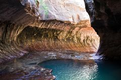The Subway – Zion National Park Royalty Free Stock Photos