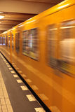 Subway. A stop in Berlin, Germany royalty free stock photo