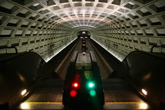 Subway. Washington DC Underground Escalator Stock Image
