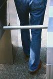 Subway. Legs of passenger in the metro stock image