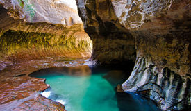 Subway. Interior canyon in Zion national park in Utah USA Stock Image