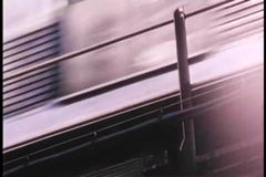 Subway above ground New York City stock footage