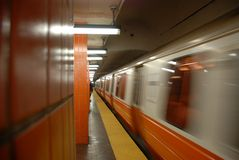 Subway Approaching 5 of 5 Royalty Free Stock Photography