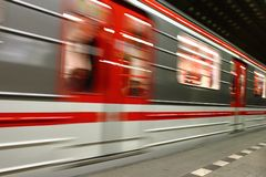 Subway background from the Prague Stock Photography
