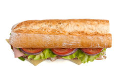 Subway baguette sandwich Royalty Free Stock Photos