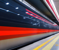 Subway of Beijing. With slow shutter Stock Image