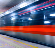 Subway of Beijing. With slow shutter Royalty Free Stock Photography
