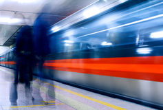 Subway of Beijing. With slow shutter Royalty Free Stock Photo