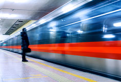 Subway of Beijing. With slow shutter Royalty Free Stock Photos