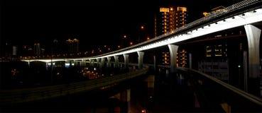 Subway and bridge Royalty Free Stock Photography