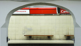 Subway of Buenos Aires. BUENOS AIRES - MARCH 30: A metro Station of the subway of Buenos Aires on March 30, 2013 in Buenos Aires Royalty Free Stock Photos