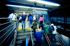 Subway Bustle royalty free stock photos