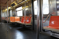 The subway car. These is empty subway car in NYC Stock Image