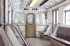 Subway car. Royalty Free Stock Image