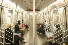 Subway car. New Yorker subway car - US Royalty Free Stock Images
