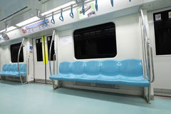 Subway car. Subway train empty seat. İstanbul / Turkey Stock Photography