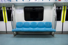 Subway car. Subway train empty seat. İstanbul / Turkey Royalty Free Stock Images