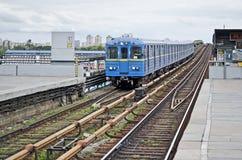 Subway cars in Kiev Royalty Free Stock Image