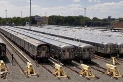 Subway Cars Royalty Free Stock Photography