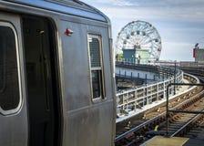 Subway at Coney Island in Brooklyn, New York Royalty Free Stock Image