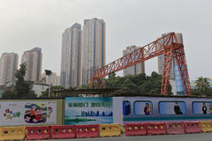 Subway construction site in amoy city, china. To promote economic development, many cities in china are building subway. next five years in amoy will be built Royalty Free Stock Photos