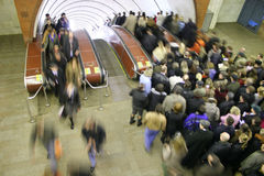 Subway crowd. Moving crowds on the subway station Royalty Free Stock Photography