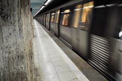 Subway departure Royalty Free Stock Image