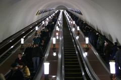 Subway elevator Royalty Free Stock Photography