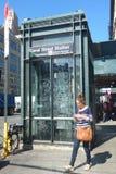 New York City Subway Elevator Stock Photo