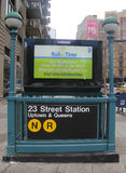 Subway entrance at 23rd Street in NYC Royalty Free Stock Images