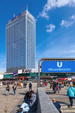 Subway Entrance in Alexanderplatz, Berlin Royalty Free Stock Photography