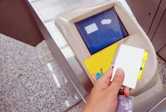 Subway entrance card Stock Photos