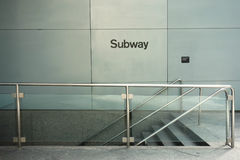 New York City Subway Entrance Stock Photos