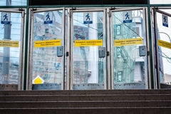 Subway entrance. Russian subway entrance, view from inside Royalty Free Stock Image