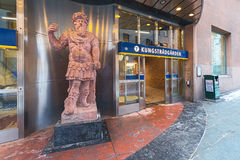 Subway entrance to Kungstradgarden one of the most art decorated Royalty Free Stock Images