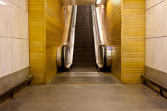 Subway escalator Royalty Free Stock Image