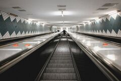 Subway Escalator Royalty Free Stock Photography