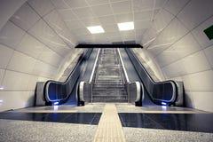 Subway escalator Royalty Free Stock Photos