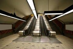 Subway Escalator Stair. Escalator Stairway in the Montreal Metro Royalty Free Stock Photos