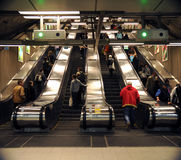 Subway escalators Royalty Free Stock Photos