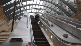 Subway escalators stock footage